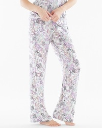 Embraceable Cool Nights Pajama Pants Lustrous Multi Ivory