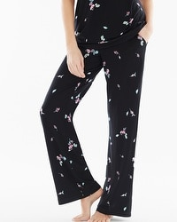 Embraceable Cool Nights Pajama Pants Botanical Bouquet Black