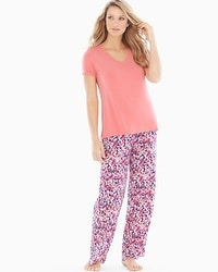 Cool Nights Pajama Set Speckled Coral Hype