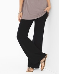 Live. Lounge. Wear. Soft Jersey Wide-Leg Pants Black