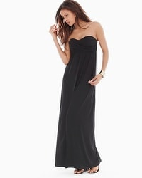 Bandeau Maxi Dress Black