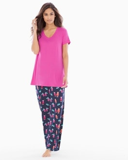 Cool Nights Pajama Set Mai Tai Navy