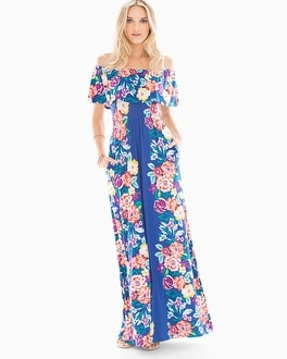 Flounce Strapless Maxi Dress