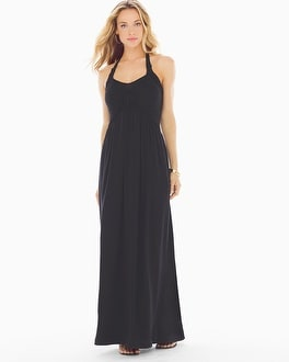 Basketweave Maxi Dress Black