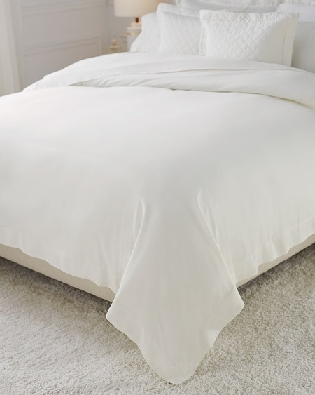 Luxe Sateen Full/Queen Duvet Cover Ivory