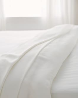 Viscose from Bamboo Luxe Sateen Sheet Set Ivory