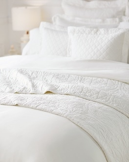 Viscose from Bamboo Luxe Quilted Coverlet Ivory