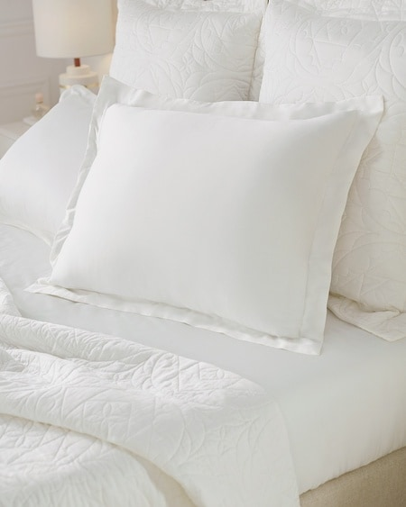 Luxe King Pillow Sham Set Ivory
