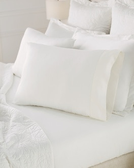 Viscose from Bamboo Luxe Pillowcase Set Ivory