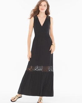 Crochet Black Maxi Dress