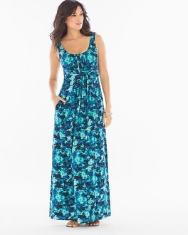 Sleeveless Wrapped Waist Maxi Dress Tie Dive Dynasty