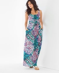 Sleeveless Wrapped Waist Maxi Dress Wayward Scarf Dynasty