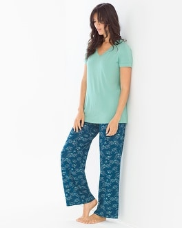 Cool Nights Pajama Set Social Scene Wasabi