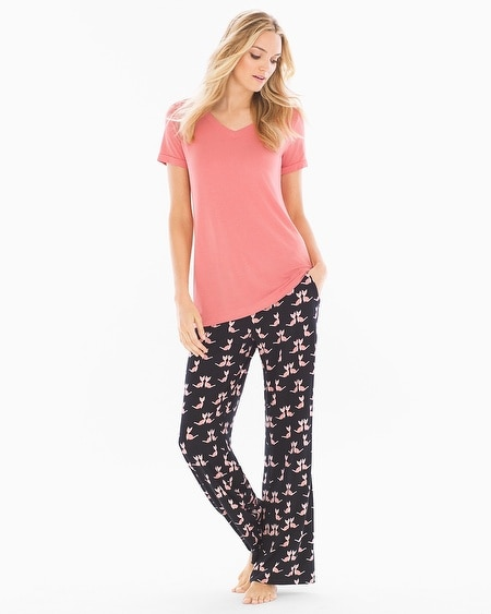 Cool Nights Pajama Set Crafty Cat Japanese Maple TL