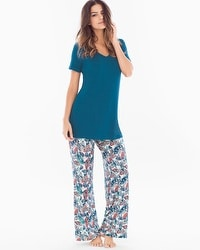 Cool Nights Pajama Set Gracious Fan Poseidon