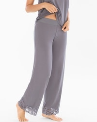 Camellia Lace Pajama Pants Excalibur Grey