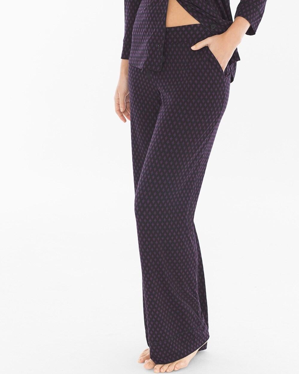 Cool Nights Pajama Pants Elite Geo Black - Soma 18d07458d