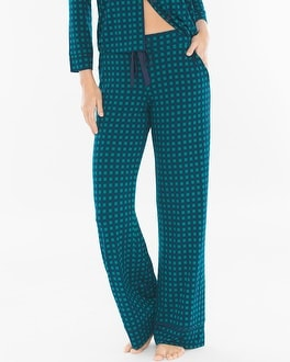 Cool Nights Pajama Pants Arbor Plaid Green Envy