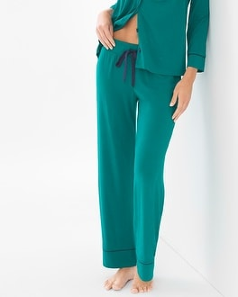Cool Nights Pajama Pants Green Envy