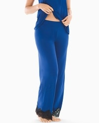 Regal Lace Pajama Pants Majesty Blue