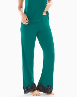 Regal Lace Pajama Pants Green Envy