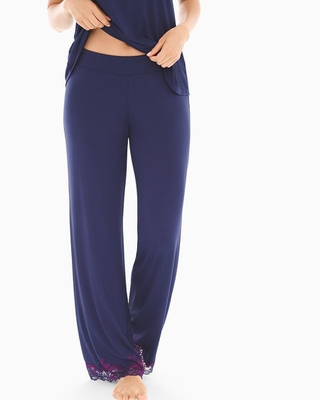 Pajama Pants Navy/Warm Plum TL