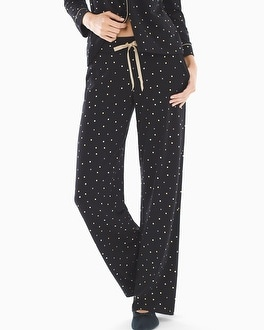 Embraceable Pajama Pants Festive Dot Mini Black