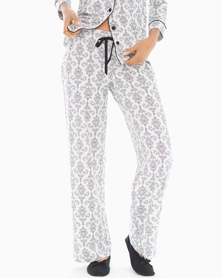 Pajama Pants Chic Scroll Ivory SH