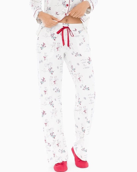 Embraceable Pajama Pants Mistletoe Ivory