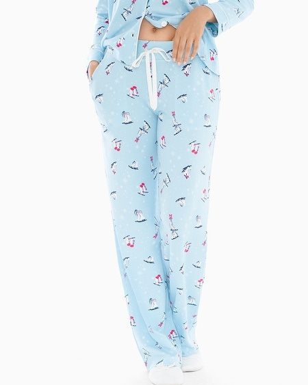 Pajama Pants Skates Blue Crystal TL