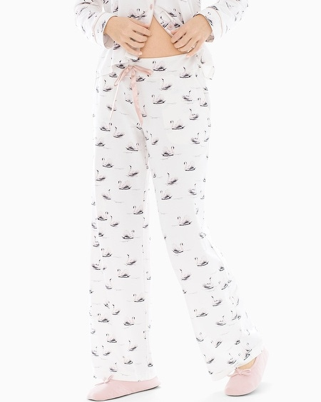 Pajama Pants Pretty Swan Ivory