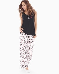 Cool Nights Tank Pajama Set Kiss Me Black