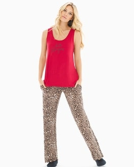 Cool Nights Tank Pajama Set Jaguar Mini Neutral Ruby