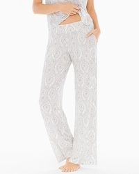 Cool Nights Pajama Pants Delicate Scroll Ivory