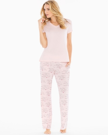 Short Sleeve Pajama Set Love Languages Rose TL