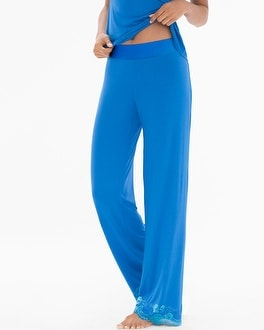 Flirtation Pajama Pants Capri Blue