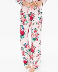 Cool Nights Pajama Pants Floral Fancy Pink