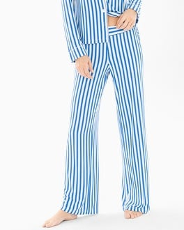 Cool Nights Pajama Pants Capri Stripe