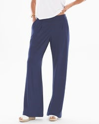 Soft Jersey Wide Leg Pants Navy