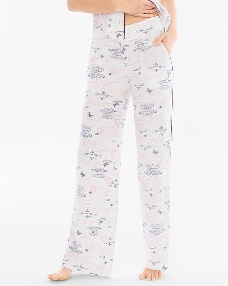 Contrast Piped Pajama Pants