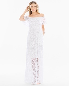 Off the Shoulder Burnout Maxi Dress