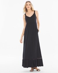 Soft Jersey Sleeveless Tiered Maxi Dress