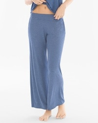 Cool Nights Pajama Pants Serene Stripe Heather Ink