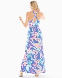 Cross Back Halter Maxi Dress