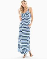 Soft Jersey Flounce Tiered Sleeveless Maxi Dress