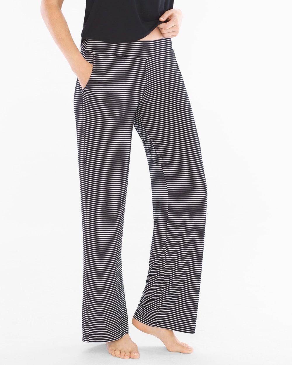 Cool Nights Pajama Pants Infinite Stripe Black - Soma 9c5493507