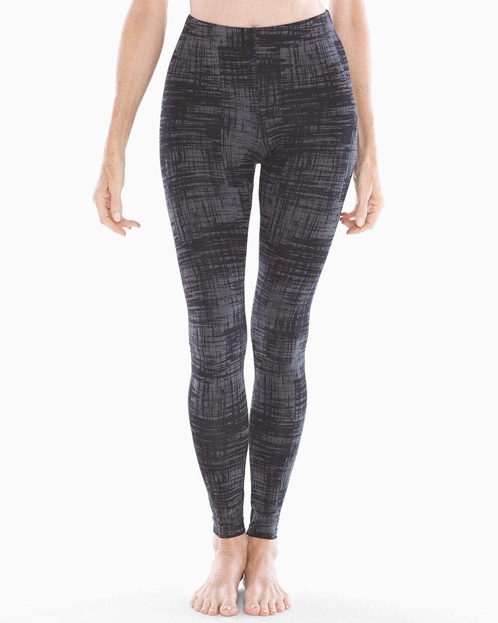 5869b42bd2ec6 Essential Leggings Abstract Plaid Heather Quartz - Soma