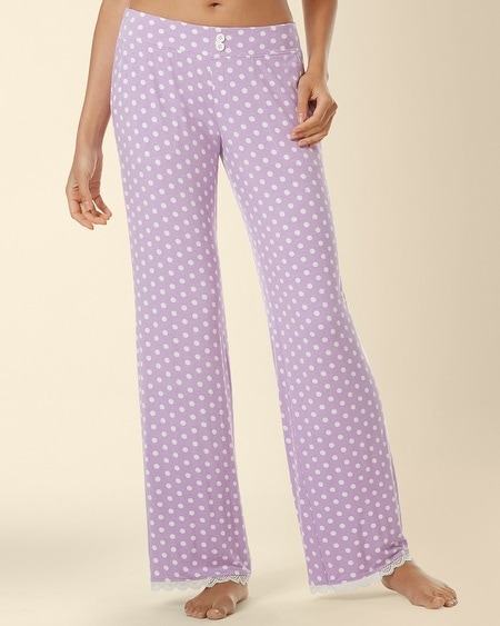 Lace Pajama Pant Big Dot Faded Orchid