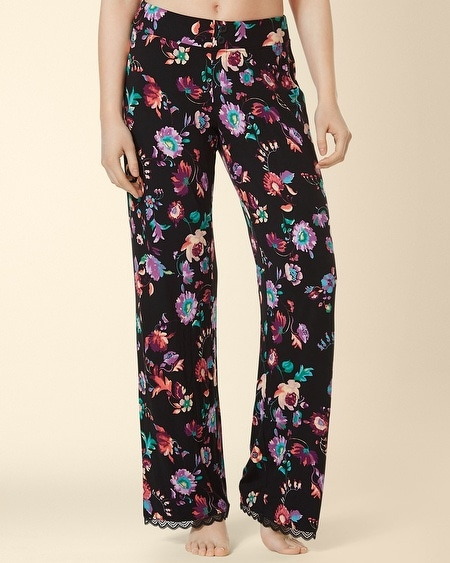 Lace Pajama Pant Oracle Floral Black