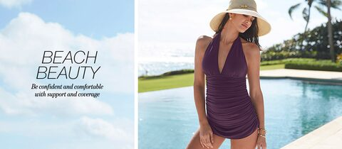 Beach Beauty Be confident and comfortabl with support and coverage